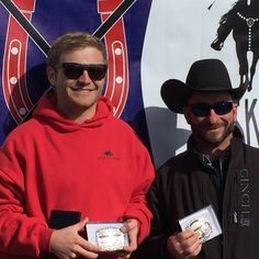 Buckle Winners at Rockin' MT Arena Skijoring Event in Cokeville, Wyoming Photo ©2016 Skijor International