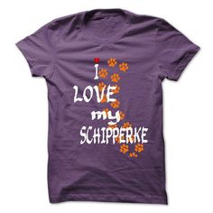 I Love my Schipperke T Shirts, Hoodies, Sweatshirts. CHECK PRICE ==► https://www.sunfrog.com/Pets/I-Love-my-Schipperke.html?41382