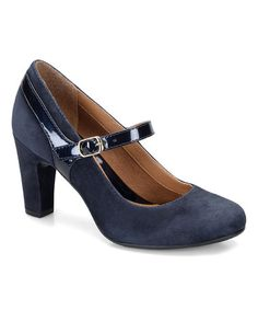 Look what I found on #zulily! Winter Blue Leather Brisa Mary Jane #zulilyfinds