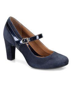 Look what I found on #zulily! Winter Blue Leather Brisa Mary Jane #zulilyfinds