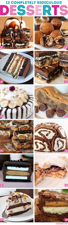 12 completely ridiculous desserts