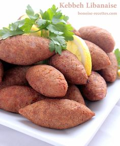kebbeh-libanaise2 thumb Lebanese Recipes, Armenian Recipes, Lebanese Cuisine, Turkish Recipes, Greek Recipes, Ethnic Recipes, Syrian Recipes, Middle East Food, Middle Eastern Recipes