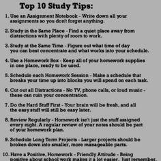 I need this next semester.  10 Study Tips
