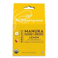 Wedderspoon Organic Manuka Honey Drops with Bee Propolis Lemon -- 4 oz - Vitacost Wedderspoon Manuka Honey, Allergy Nasal Spray, Organic Manuka Honey, Dry Throat, Honey Drops, Bee Propolis, Gas Relief, Organic Brown Rice, Buy Honey