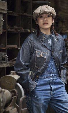 American Casual, Raw Denim, Denim Man, Mood Indigo, Double Denim, Cool Fabric, Dress For Success, Japan Fashion, Vintage Denim