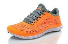 Nike Free Run 3.0 V5 Dame Sko Appelsin Grå Hvid
