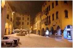 Belluno, piazza delle Erbe - Dolomites, province of Belluno, Veneto, Northern Italy