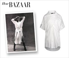 We're looking to the Bazaar archives for style inspiration on how to wear the shirtdress trend. Get Christy Turlington's look at #ShopBAZAAR.
