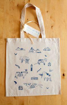 Extinct Animals Silkscreened Canvas Tote Bag by meeraleepatel