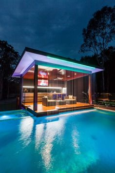 Outdoor Kitchen And Pool Backyard. Home Architecture Design Features Cool Outdoor Living . Home and Family Future House, Luxury Pools, Luxury Swimming Pools, Swimming Pool Architecture, Luxury Spa, Luxury Decor, Luxury Interior, Dream Pools, Swimming Pool Designs
