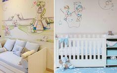 """murales infantiles con efecto """"pintado a mano"""""""