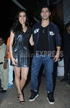 Varun Dhawan and Shraddha Kapoor at the 'ABCD 2' success bash. #Bollywood…