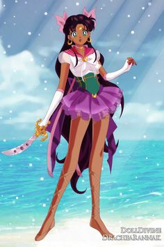 Sailor Esmeralda ~ by Saundra_Banks ~ created using the Sailor Senshi doll maker | DollDivine.com