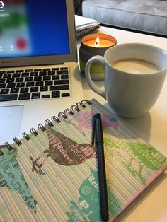 Tools ready for a day of planning, scheming and intention-setting! Latte, journal, laptop, candle :-) Sign up for my email list now to be part of this amazing year!