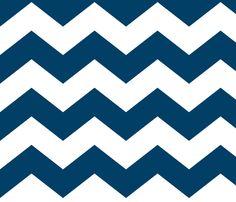 chevron lg navy blue and white fabric by misstiina on Spoonflower - custom fabric