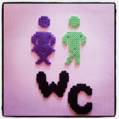 Toliet sign hama beads by kreatas