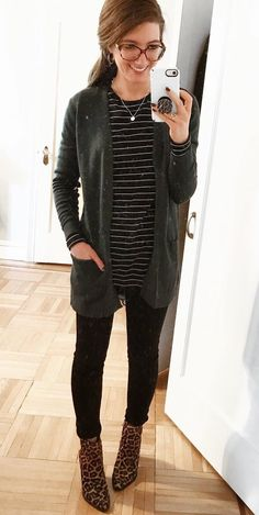 #winter #outfits black cardigan
