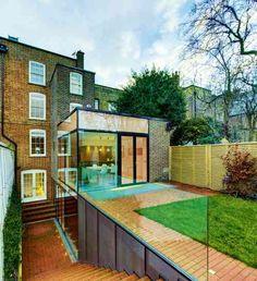 idée d'agrandissement de maison et toit plat