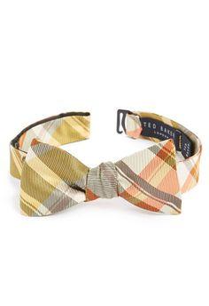 Plaid Silk Bow Tie