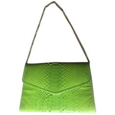 Pre-owned Snakeskin Lime Green Clutch (74.820 HUF) ❤ liked on Polyvore featuring bags, handbags, clutches, lime green, snake print handbag, miniature purse, python handbag, white purse and snake skin handbags