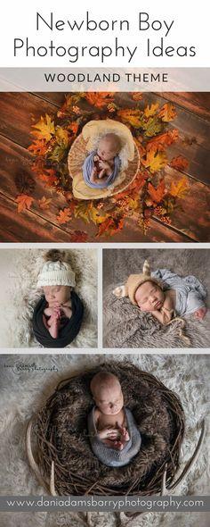 Newborn Boy Photography Ideas. Woodland themed Newborn Photography Dallas TX. Baby Portrait Inspiration by Dallas Photographer Dani Adams Barry