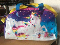 Vintage Lisa Frank Markie Unicorn Multicolored Duffle Bag