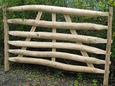 Grow Fraxinus excelsior (common ash) and use wood to make gate hurdles/garden gates etc Garden Gates, Garden Tools, Garden Ideas, Forest Garden, Hurdles, Country Charm, Fencing, Livestock, Wood Crafts