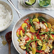 chicken & veggie stir fry. click to ge recipie