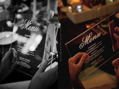 Wedding Invitations   Wedding Stationery   South Africa   Secret Diary   meg & darren clear perspex engraved menu