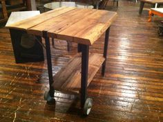 Custom Rustic Drop Leaf Table Or Kitchen Island MADE By ReworxCT
