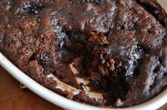 """Chocolate Cobbler via How Sweet It Is- dessert described """"like brownie batter or cake batter, mixed with fluffy cake and chewy brownies all in one. It might be the most sinful dessert I ever made. Just Desserts, Delicious Desserts, Dessert Recipes, Yummy Food, Dessert Ideas, Cookie Recipes, Vegetarian Chocolate, Chocolate Recipes, Chocolate Cake Recipe Without Baking Soda"""
