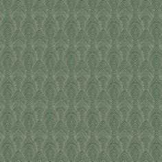 Fabricut Kendall Wilkinson Deco Herringbone Emerald 04 is a cotton and polyester blend chenille fabr