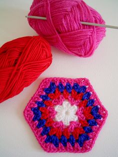 hexagon granny square | Flickr - Photo Sharing!