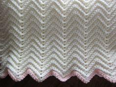 Crochet Ripple Baby Afghan by LilyLousCrochet on Etsy, $30.00