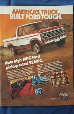 vintage Ford F150 advertisement