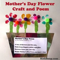 Mother's Day Flower Craft and Poem