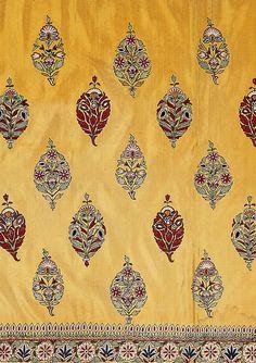 style court: June 2011 - [Skirt cloth, silk embroidered with silk thread, Kutch, Gujurat, circa 1850 ©Victoria & Albert Museum.]