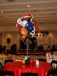 17 Best Sports Theme Balloon Centerpieces Decor Images Balloon