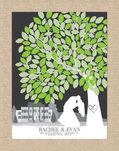 Wedding Signature Tree Guest Book idead for your winter wedding ...
