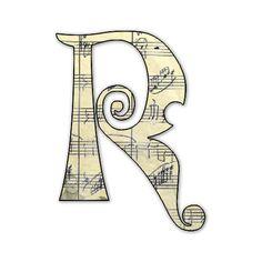 Precioso Alfabeto con Partituras Musicales.  Precious Alphabet with Music.