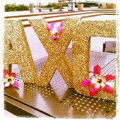 glitter letters!