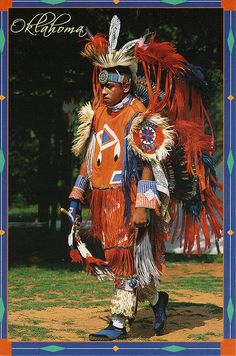 Oklahoma Native American Postcard.