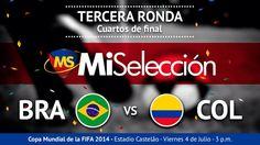 Mi selección Colombia #mundial 2014 #Cuartos de final