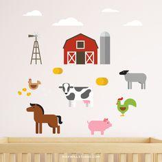 Farm Animal Wall Decals