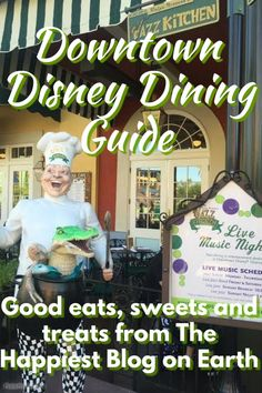 Downtown Disney Dining Guide, where to eat, what to eat and more Disneyland planning tips.