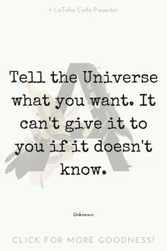 Talk to the universe