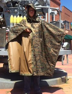 Improved Military Poncho MARPAT Camo- Made in USA!
