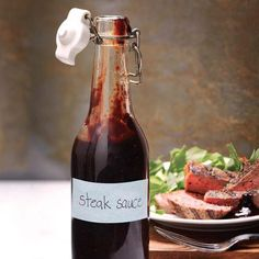 Brit-style steak sauce - homemade with a few pantry staples (change the malt vinegar for nearly any other vinegar to make it GF...)