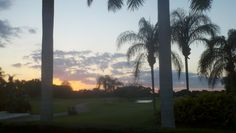 Golf Course view from Club Villas in Palm Aire, Sarasota Florida