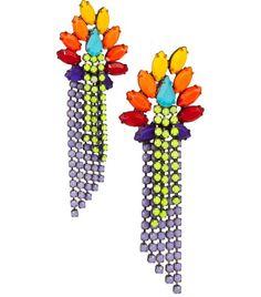 2. Colourful Swarovski Crystal Earrings